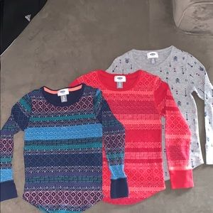 Set of 3- Thermal long sleeves - Size 6-7